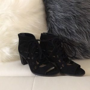 Black Vince Camuto Lace up heels